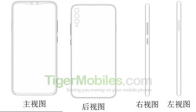 Xiaomi запатентовала смартфон-слайдер с четверной основной камерой и новую форму выреза в дисплее
