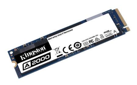 Kingston Digital представила NVMe PCIe SSD-накопитель Kingston A2000 на основе 3D NAND TLC памяти