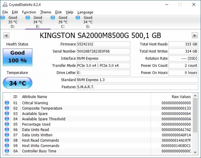 Обзор накопителя Kingston A2000 500 ГБ