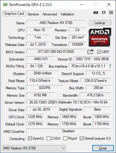 Radeon RX 5700 vs. GeForce RTX 2060 Super: средний класс на стероидах