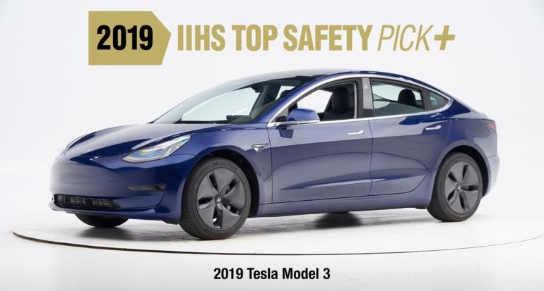 Tesla Model 3 стала первым электромобилем компании, получившим высшую оценку безопасности Top Safety Pick+ от IIHS (видео краш-тестов)