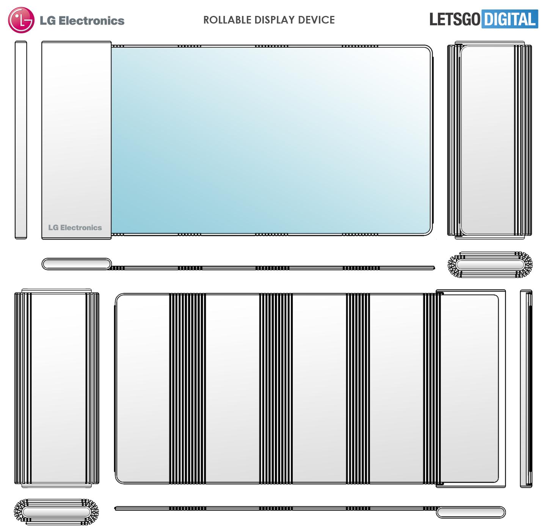 LG запатентовала дизайн смартфона со сворачиваемым дисплеем