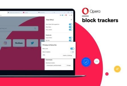 Обновленный браузер Opera для ПК получил улучшенный блокировщик трекеров, ускоряющий скорость работы на 20%, и продвинутую систему снятия скриншотов