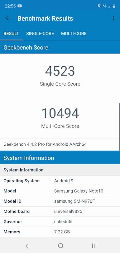 Обзор смартфона Samsung Galaxy Note10