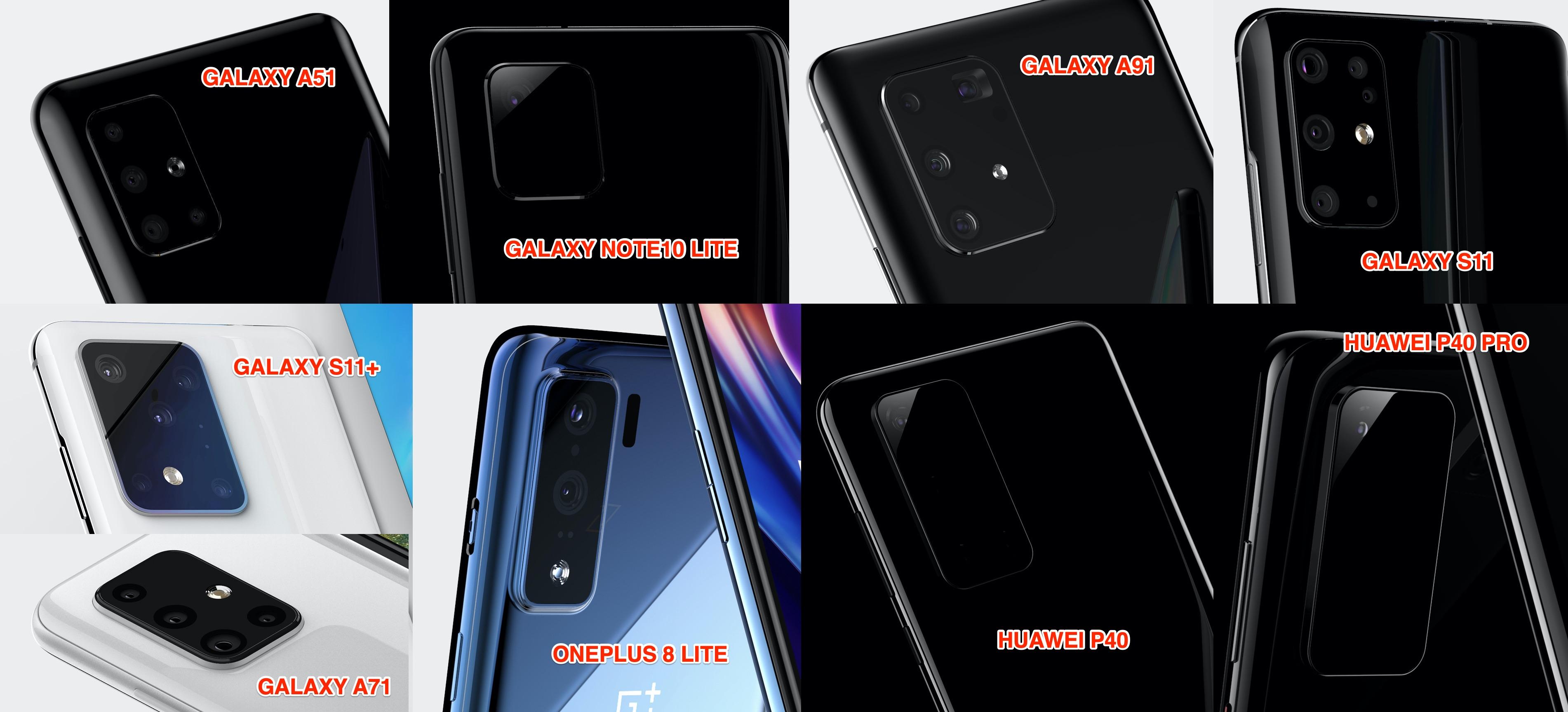 Вот так, с высокой долей вероятности, будут выглядеть Huawei P40 и Huawei P40 Pro