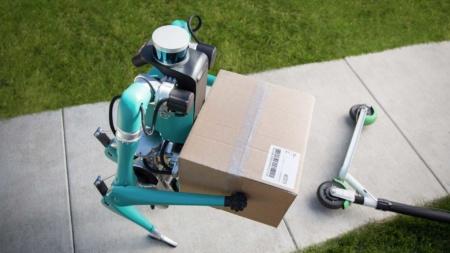 Двуногий робот Digit научился держаться подальше от людей