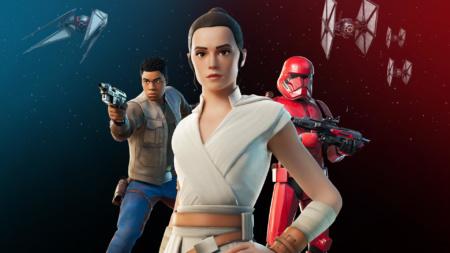 В Fortnite появились скины Рей, Финна и Штурмовика Ситхов, а всем посетителям спецпоказа фрагмента Star Wars: The Rise of Skywalker бесплатно подарят TIE Whisper Glider