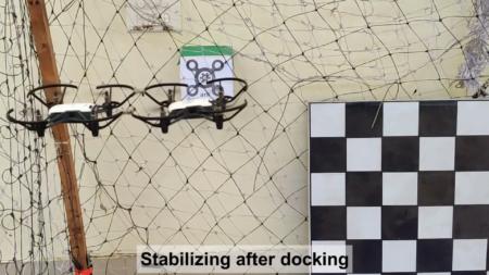 Индийский инженер разработал решение, позволяющее дронам соединяться в полете при помощи магнитов