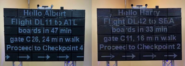Дисплей «параллельной реальности» в аэропорту Детройта покажет каждому «зрителю» персонализированное изображение