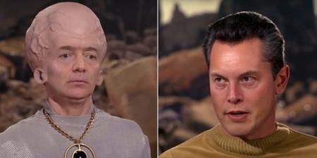 Новое занимательное deepfake-видео: впечатляющее перевоплощение Джеффа Безоса и Илона Маска в талосианца и Кристофера Пайка в пилоте оригинального сериала Star Trek