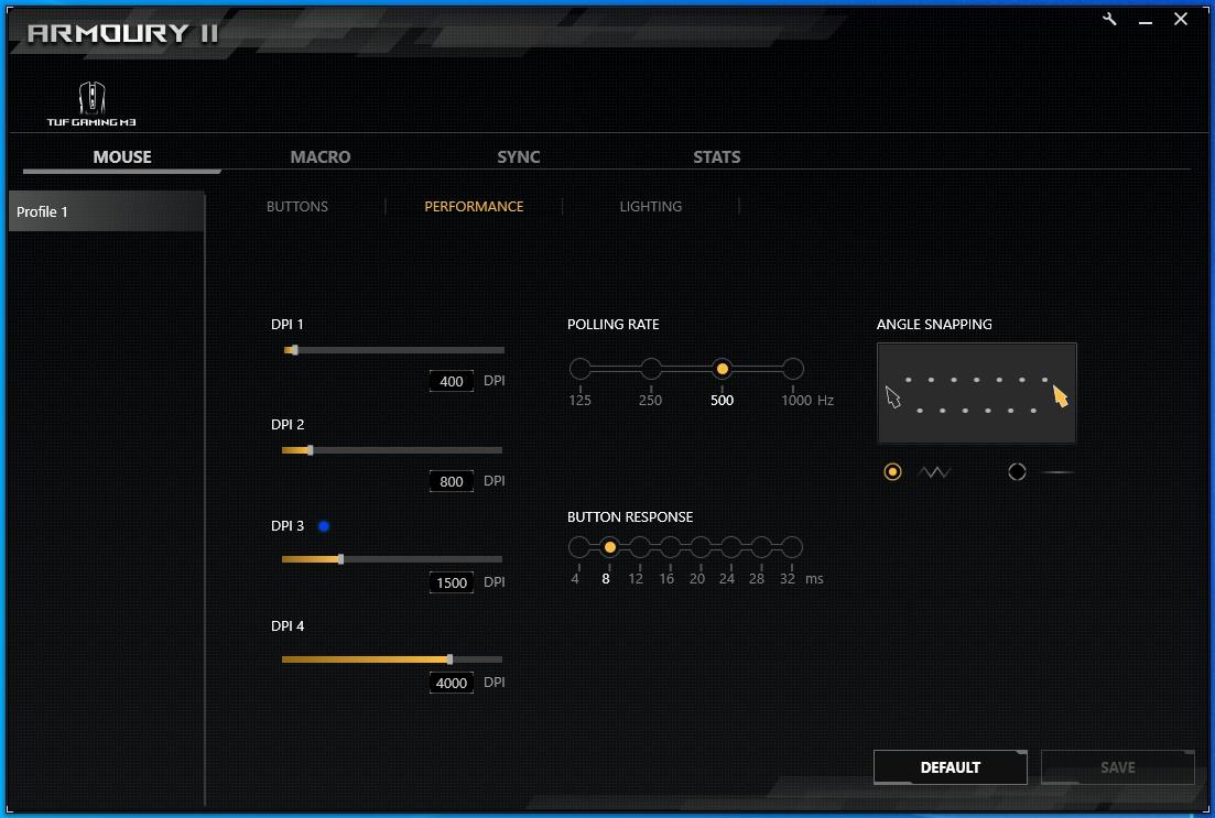 ASUS TUF Gaming M3 soft Armoury II