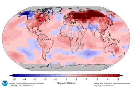 Минувший месяц стал самым тёплым январём за всю историю наблюдений