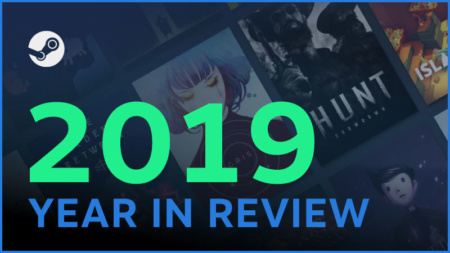 Steam подвел итоги 2019 года: 95 млн активных пользователей, 20 млрд часов в игре и 70 тыс. обзоров в день
