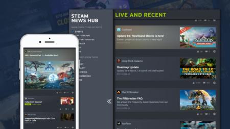 Steam запустил экспериментальный новостной центр с персонализированным контентом об играх пользователя