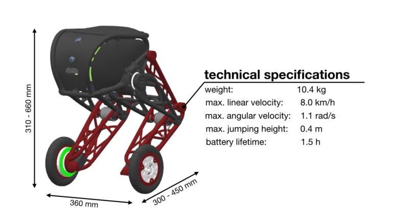Швейцарские инженеры доработали двухколесного робота Ascento, сделав его в разы устойчивее