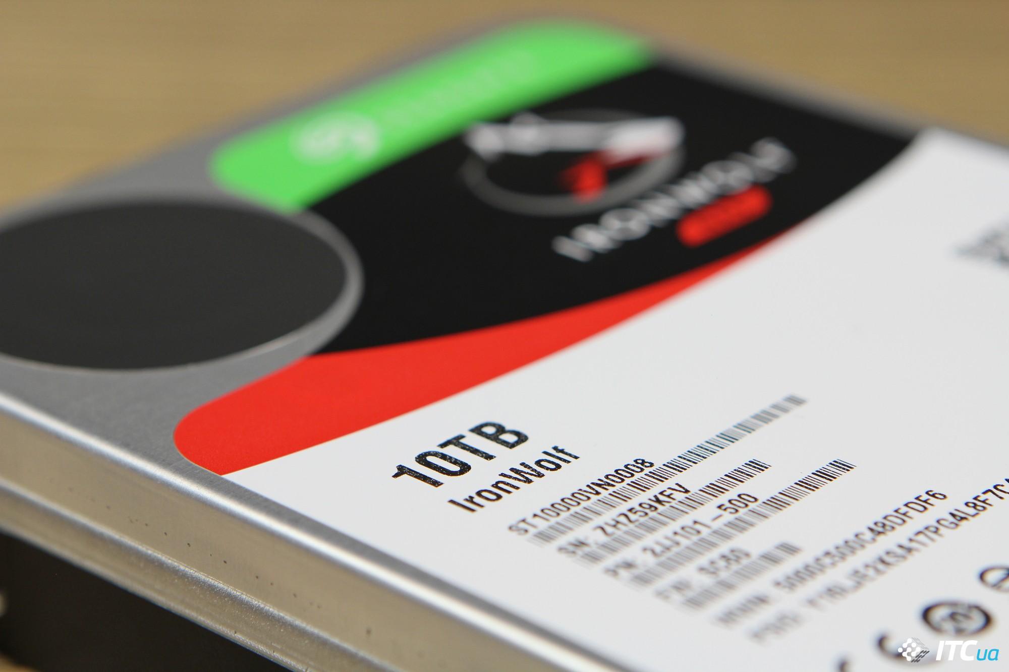 Обзор жесткого диска Seagate IronWolf 10 ТБ: держите NAS в курсе