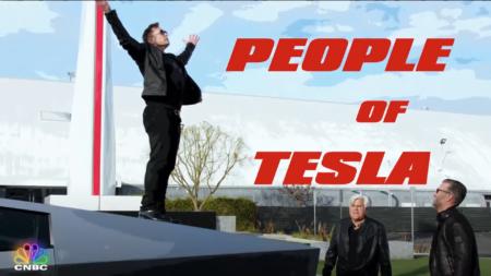 Илон Маск и Джей Лено проехались на Tesla Cybertruck по тестовому тоннелю под Лос-Анджелесом