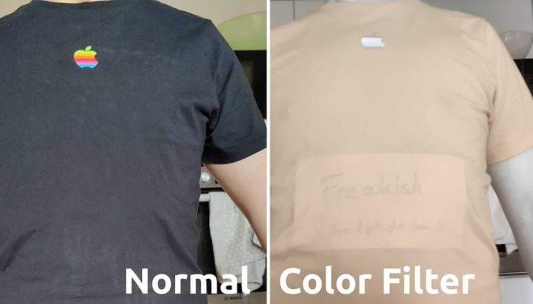 В некоторых случаях камера с цветным фильтром в OnePlus 8 Pro способна «видеть» сквозь одежду