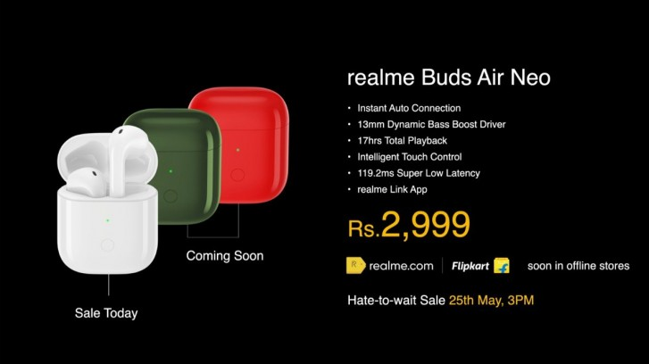 Realme анонсировала беспроводные наушники Buds Q и Buds Air Neo и два павербанка