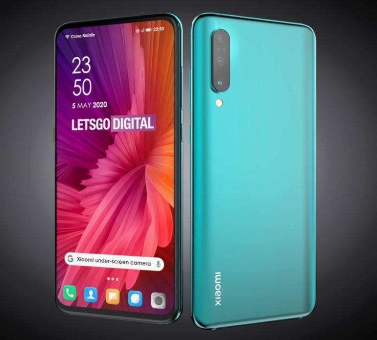 Xiaomi запатентовала две версии дизайна смартфона с камерой под дисплеем