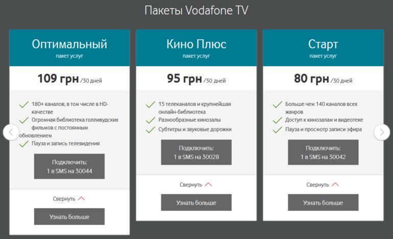 """Vodafone перезапустил пакет Vodafone TV """"Оптимальный"""", добавив фильмы и сериалы Amediateka (HBO, СBS, Showtime, Starz, Sony) без повышения абонплаты"""