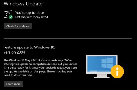 Microsoft заблокировала установку обновления Windows 10 May 2020 Update на множестве устройств