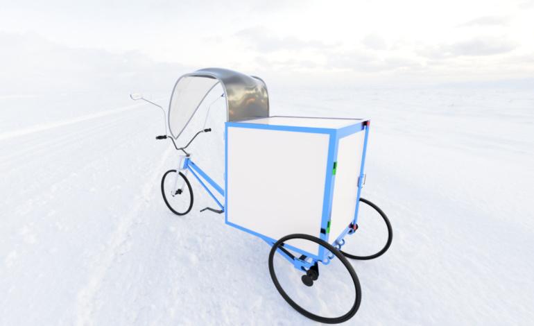В Delfast показали, как будет выглядеть украинский грузовой трехколесный электровелосипед Trike для коммерческого использования