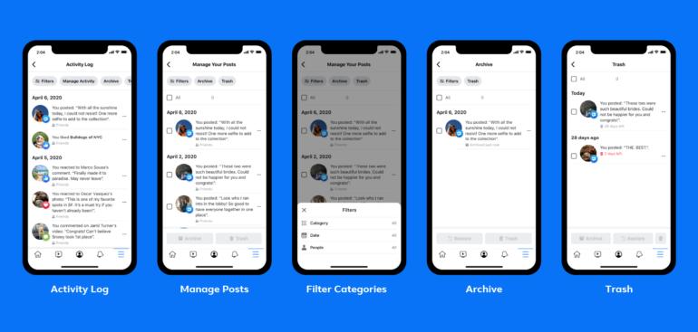 Facebook запускает инструмент для более лёгкого удаления старых публикаций с платформы