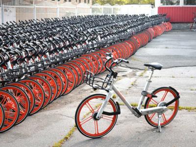 В Киев приехали «велосипеды-евробляхи» Mobike из немецкого велопроката с карданным валом и бескамерными покрышками, их продают по 6000 грн