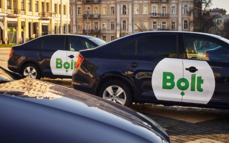 Сервис вызова такси Bolt запустился в Днепре, стоимость поездки начинается с 23 грн