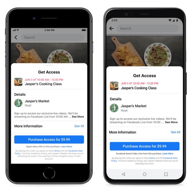 Apple блокирует обновление приложения Facebook, в котором упоминается 30-процентный «налог» App Store
