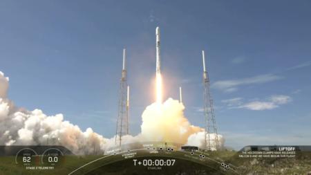 SpaceX в шестой раз запустила одну и ту же первую ступень Falcon 9 в рамках юбилейного 100-го запуска