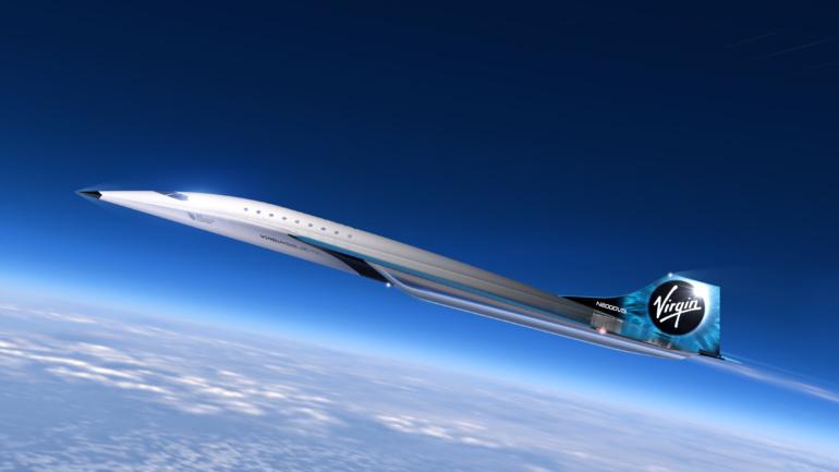 Virgin Galactic показала рендеры предлагаемого сверхзвукового самолёта, способного достигать скорости 3 Маха