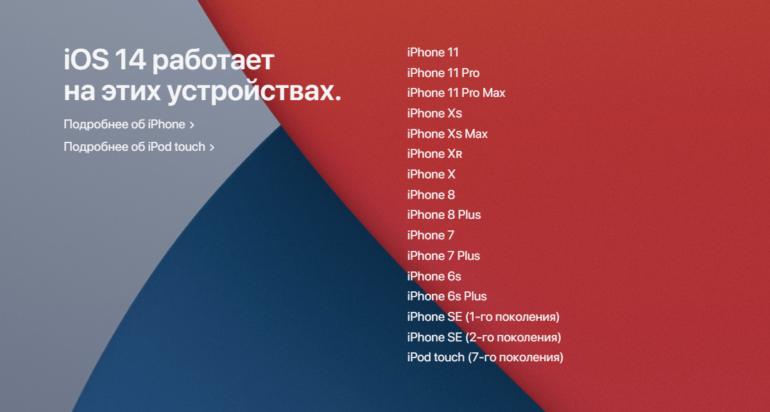 iOS 14, iPad OS 14, tvOS 14, watchOS 7 выходят 16 сентября