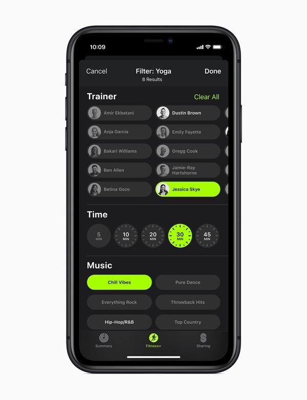 Apple Fitness+ - фитнес-сервис для Apple Watch с тренировками и музыкой