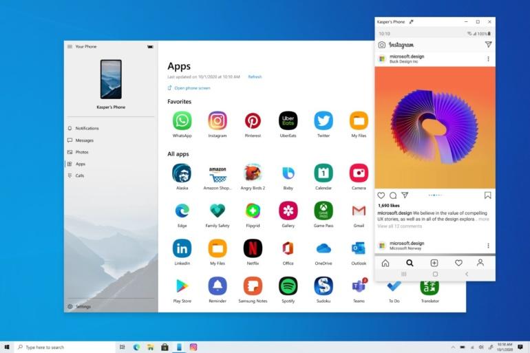 Функция «запуска» приложений Android на ПК с Windows 10 теперь доступна всем желающим (среди владельцев телефонов Samsung)
