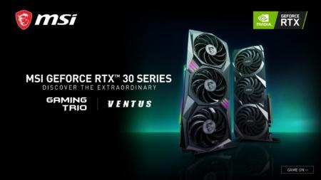 MSI представляет первые кастомные видеокарты из серии NVIDIA GeForce RTX 30