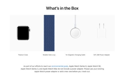 Apple продолжает вкладывать 5-ваттный адаптер в комплект поставки более дорогих часов Watch Edition и Watch Hermès