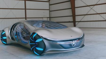 Mercedes-Benz показала «живые» кадры вождения прототипа футуристического электромобиля Vision AVTR, вдохновленного кэмероновским «Аватаром» [Видео]