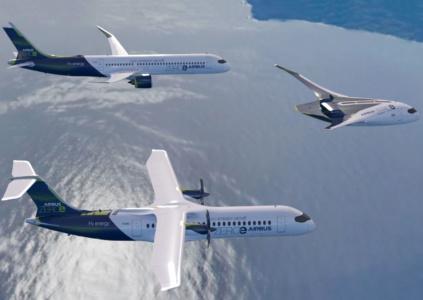Airbus показала концепты трёх самолётов на водородном топливе и планирует запустить коммерческие версии к 2035 году