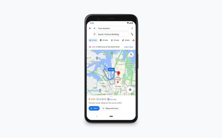 Карты Google вскоре станут показывать загруженность мест, в том числе площадок на открытом воздухе, в реальном времени