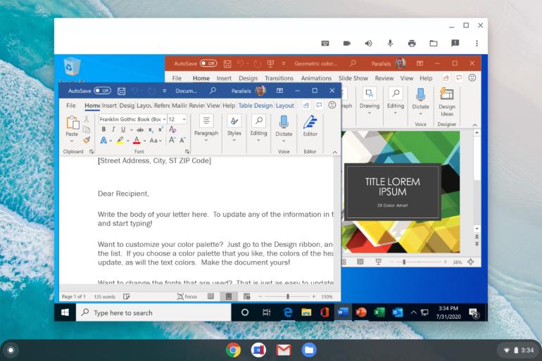 Google перенесла приложения Windows на хромбуки — через Parallels Desktop