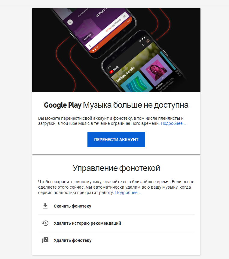 Google Play Music, прощай. Google прекратила работу сервиса