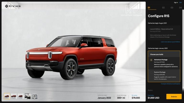 Rivian объявил конфигурации, цены и сроки поставки электромобилей R1S и R1T и рассказал, что готовит более компактные модели для Европы и Китая