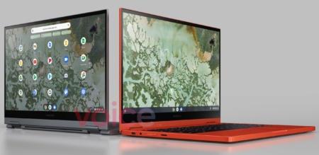 Оранжевый по-прежнему в моде. Премиальный хромбук Samsung Galaxy Chromebook 2 красуется на официальном рендере