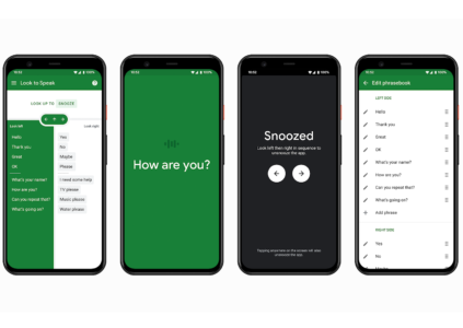 Google создала приложение Look to Speak, которое позволяет выбирать фразы для общения с помощью движений глаз