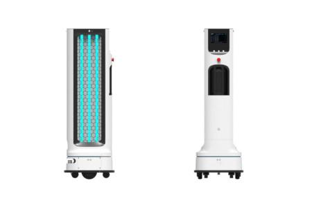 LG разработала автономного робота-санитайзера для обработки ультрафиолетовыми лучами помещений в отелях, магазинах и школах