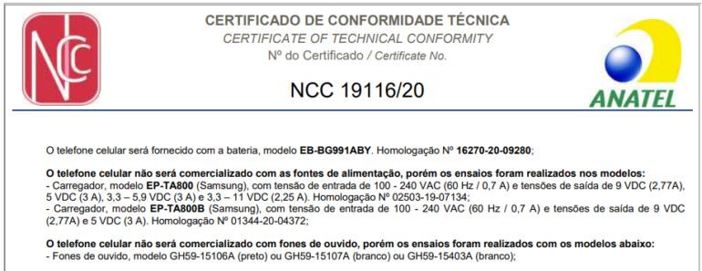 Galaxy S21 сертифицирован в Бразилии — адаптера зарядки и наушников в коробке не будет