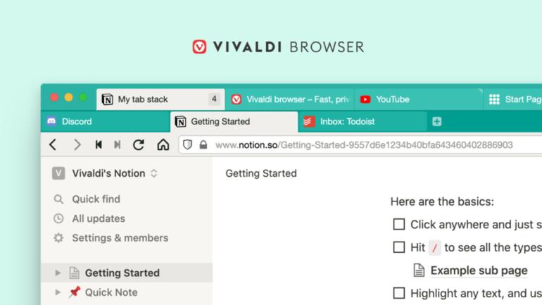 Браузер Vivaldi получил двухуровневую группировку для более удобной организации большого количества вкладок
