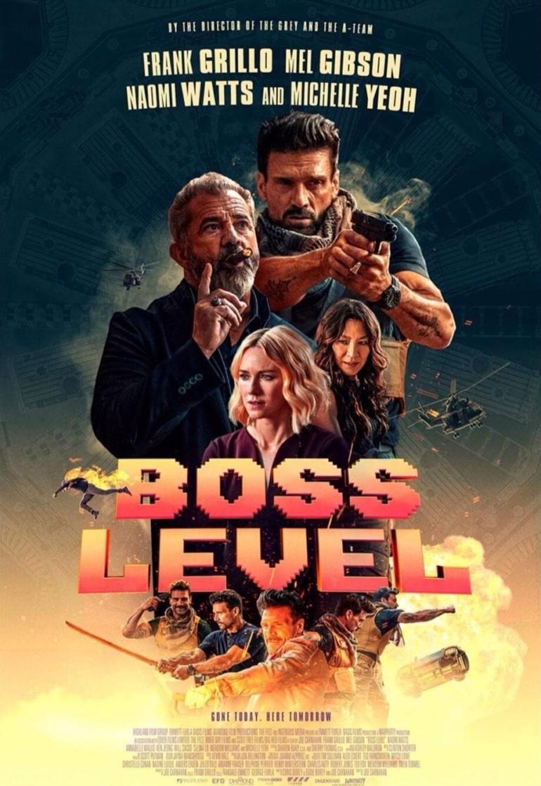 """""""Boss Level: Финальная игра"""" - очередной фантастический боевик о временной петле с Фрэнком Грилло и Мелом Гибсоном [трейлер]"""
